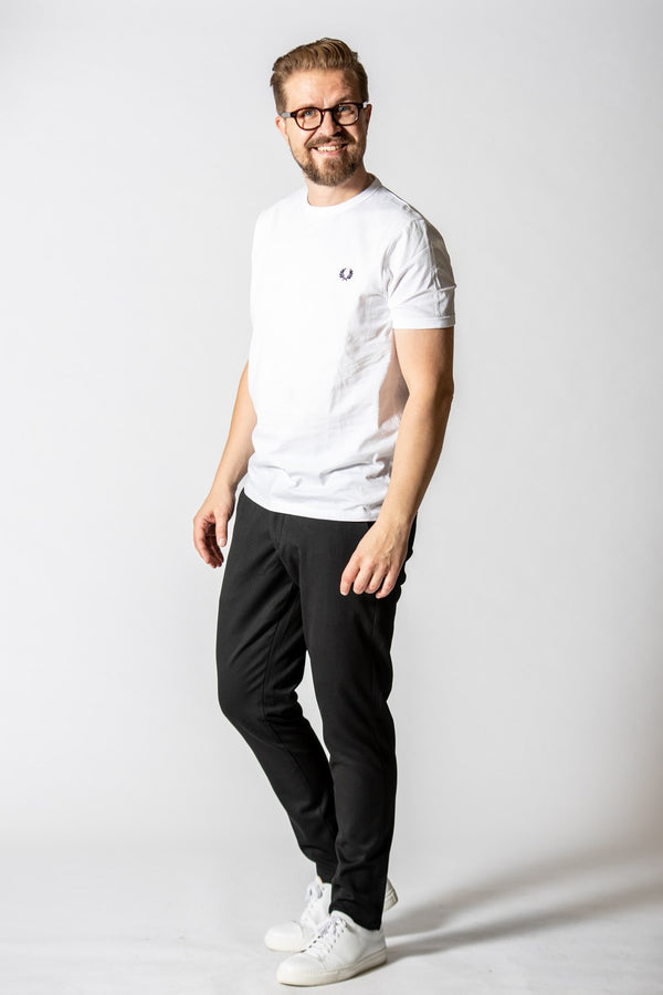 Fred Perry Ringer T-Shirt Valkoinen