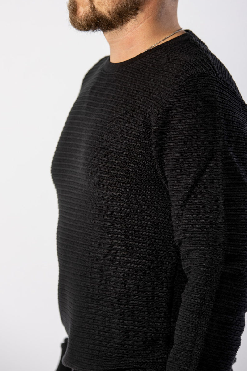 Lindbergh Structure Knit Black