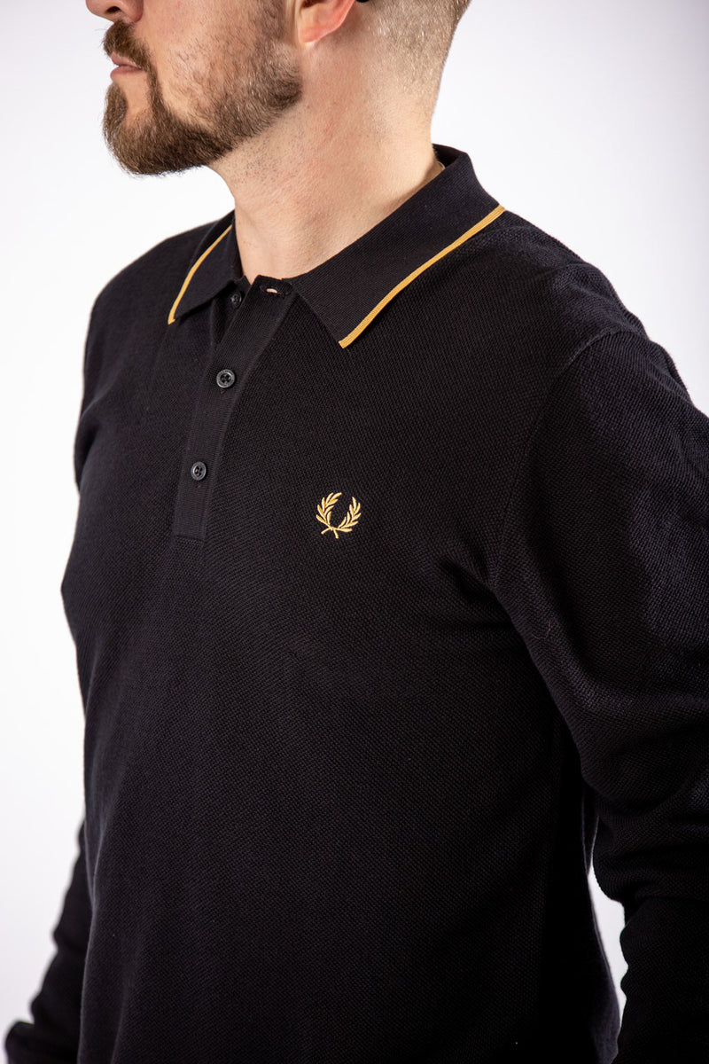 Fred Perry Tipped Shirt Black