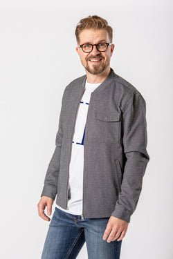 Linbergh Superflex Over Shirt Grey Mix