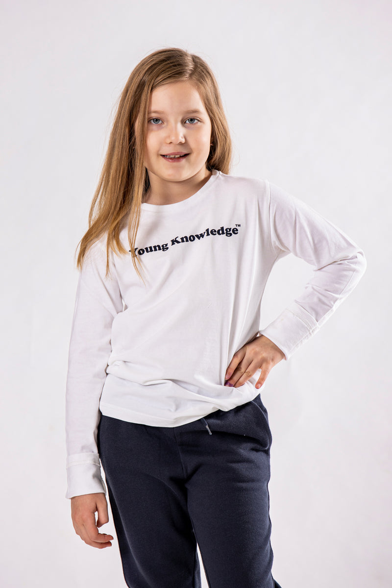 Kca Flax Young Knowledge Long Sleeve Bright White