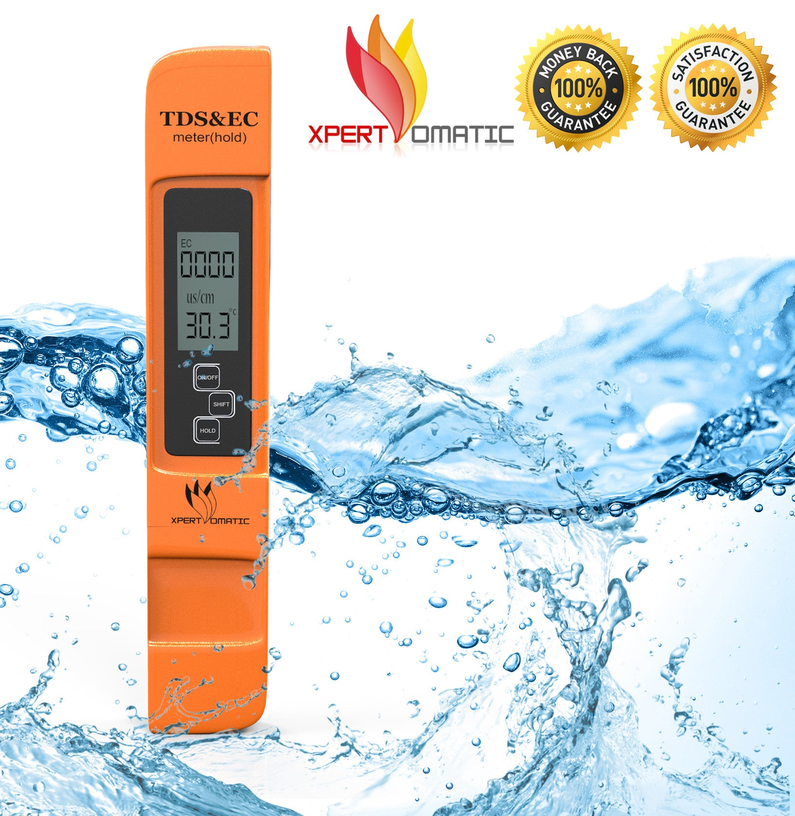 High Range Tds Ec And Temperature Meter Water Quality Test With Dual Display Backlight Ez 2b Xpert Omatic Digital Ph