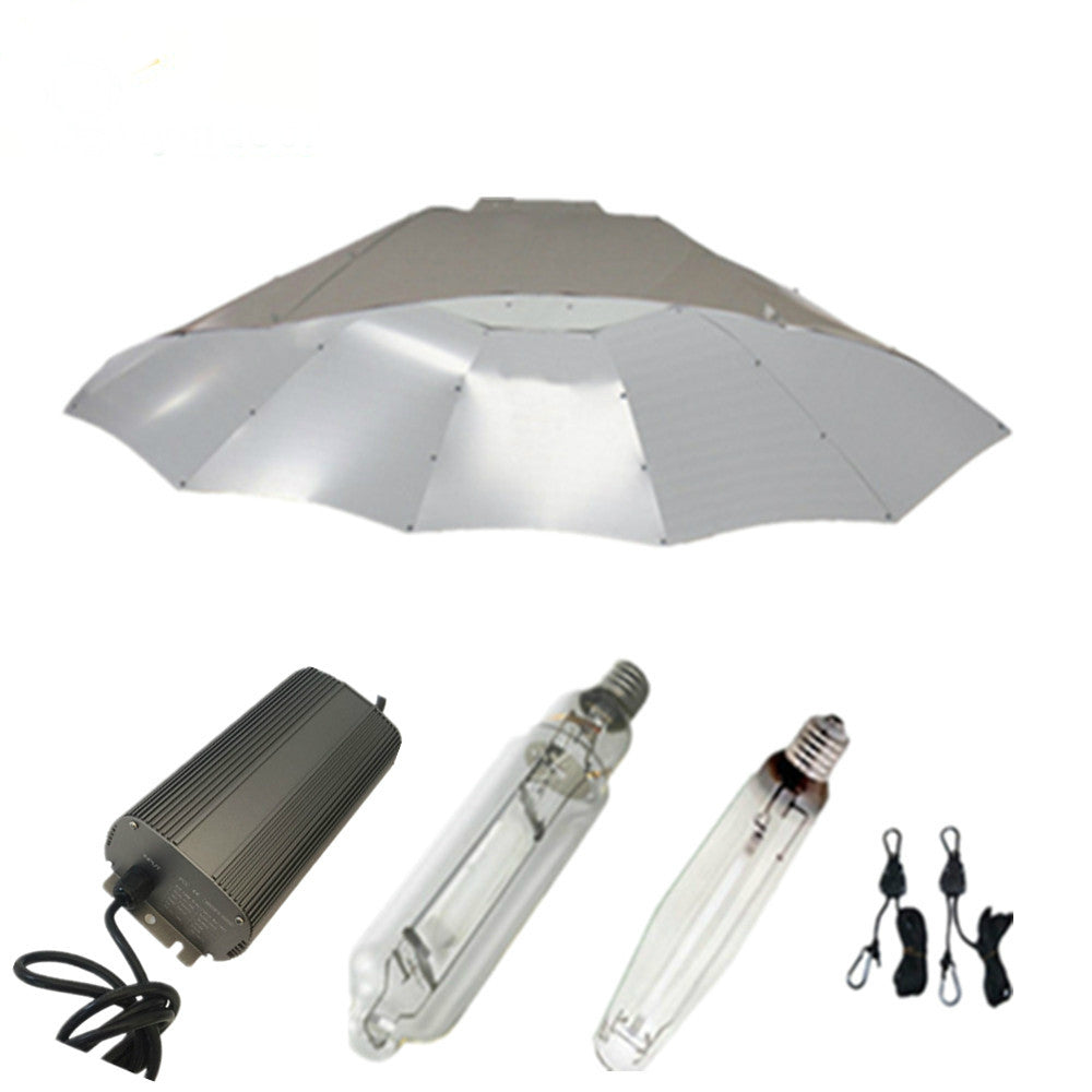 250w HPS MH Grow Lights System with Digital Dimmable Ballasts and Parabolic Lamp Covers Shades