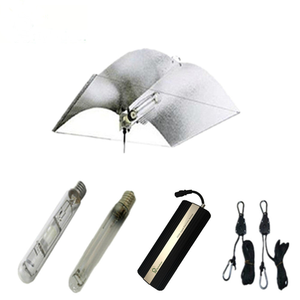 600W Grow Lights Kits with Adjust-A-wing Lamp Covers Shades Reflector