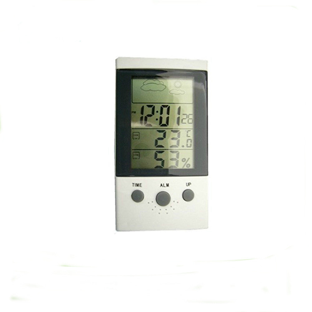 Multi Function LCD Table  Alarm Clocks Temperature Humidity Electronic Digital Thermometer Hygrometer - Xpert Omatic Digital pH Meter