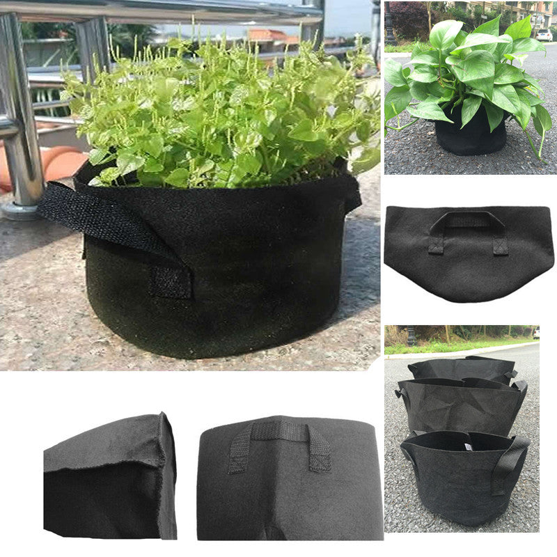 Black Fabric Pots Plant Vegetable Pouch Root Containers Round Aeration Pot Container Grow Bag For Plant Tool 7 gallon 10 pcs