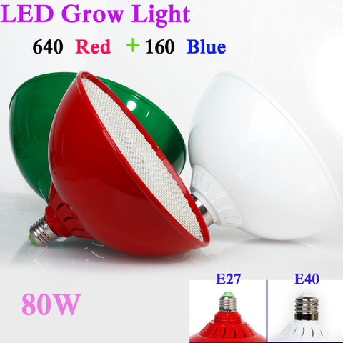 80W  Led Grow Light  AC85 - 265V E27 Red/Blue  800 Leds Hydroponic LED Plant Indor Grow Lights LED Bulb LED Growth Lamp
