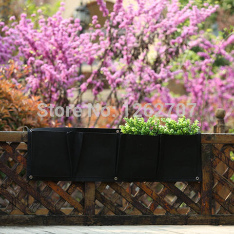 Garden Planter Wall Mounted Polyester Flower Planting Bags