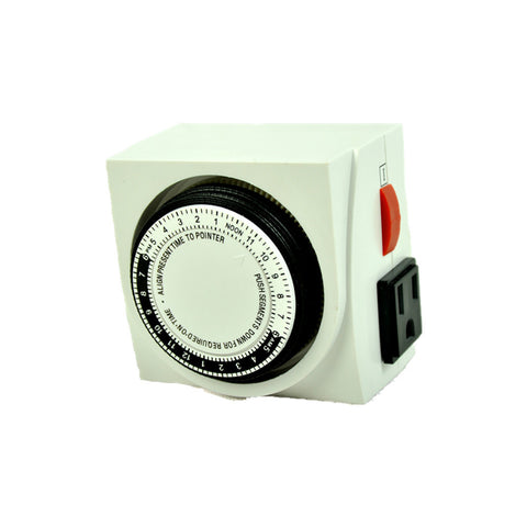 24 Hour Dual Outlet Grounded Timer Switches Hydroponic Grow Light Timer UL Listed - Xpert Omatic Digital pH Meter