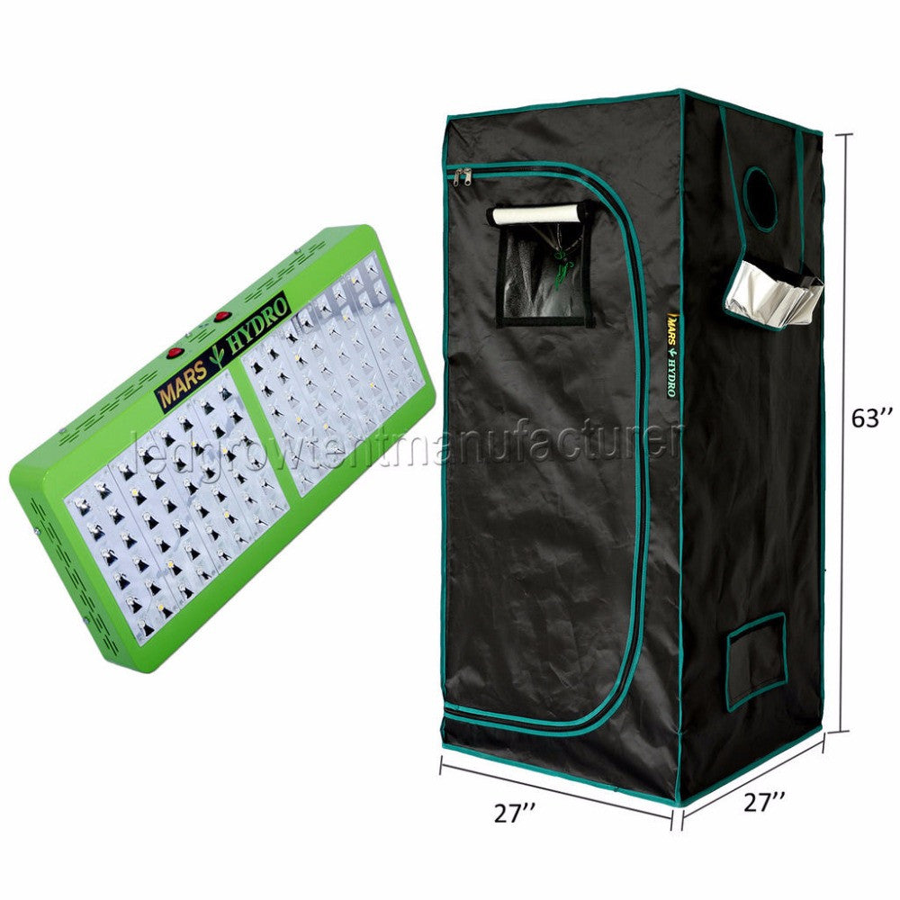 Reflector 96 LED Grow Lights Hydroponic Kit Plant+1680D 70*70*160 Indoor Grow Tent - Xpert Omatic Digital pH Meter