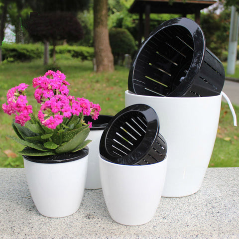Automatic Watering Plastic Flower Pot For Garden Bonsai Plants