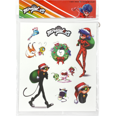 Miraculous Christmas Stickers Pack