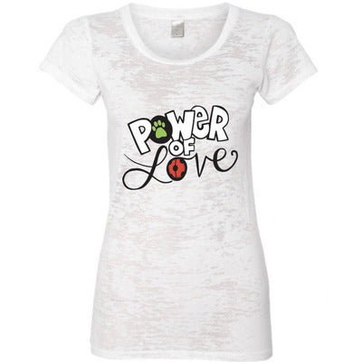 POWER OF LOVE BURNOUT TEE