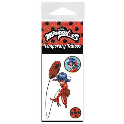 Miraculous Heroez Temporary Tattoo Pack