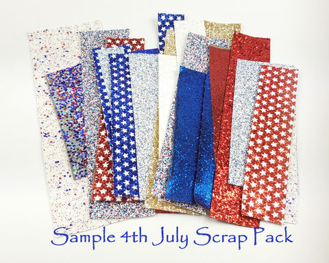 SCRAP PACK Glitter Fabric & Leather Sheets 1/2 Pound