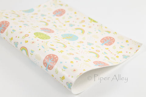 Unicorns and Rainbows Faux Leather Sheet