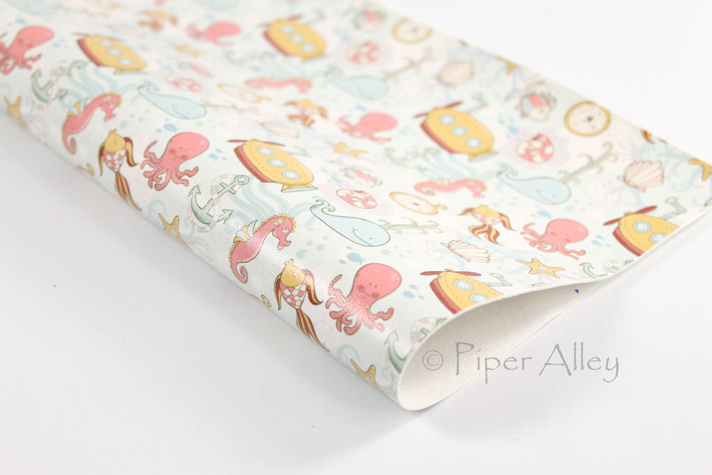 Under The Sea Faux Leather Sheet