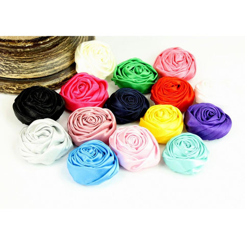 Satin Rolled Rose 1.75""
