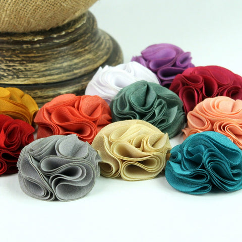 French Circle Vintage Chiffon Flower 2""