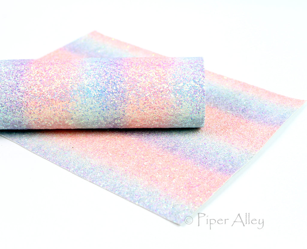 PRINCESS Shimmer Rainbow Chunky Glitter Fabric Sheet