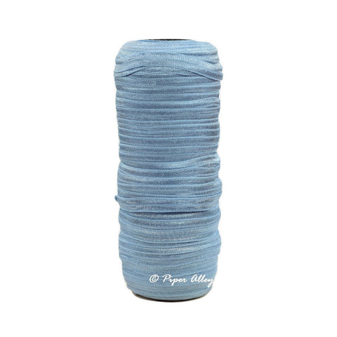 "French Blue 3/8"" Narrow FOE Solid 5 yards"