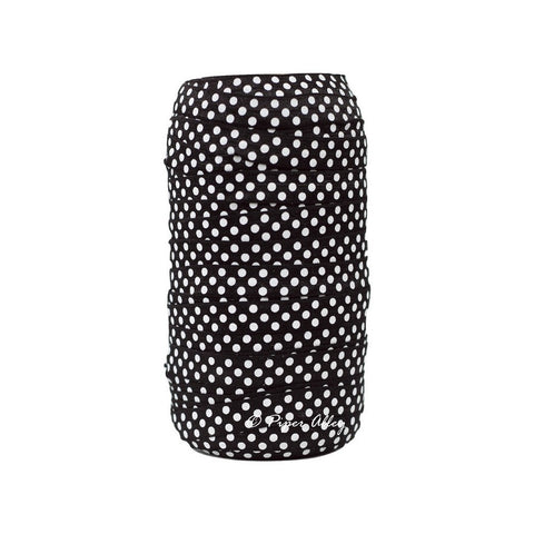"Black 5/8"" FOE White Swiss Dot 5 yards"