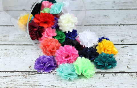 Satin Mini Mesh Flower 2""