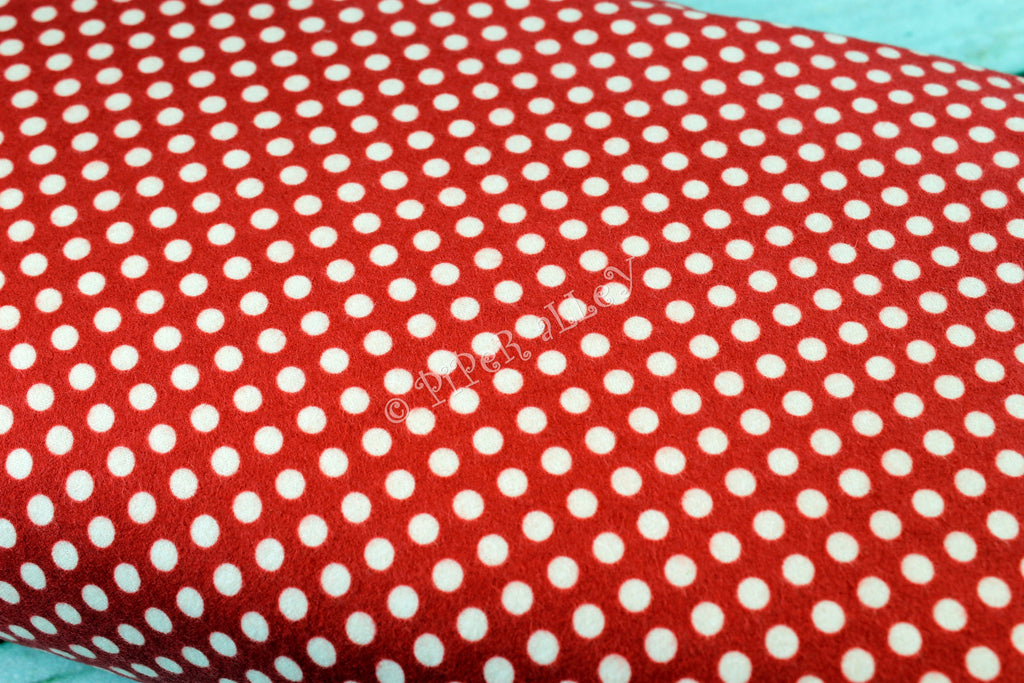 Flannel Simply Sweet Dots in Red by Riley Blake