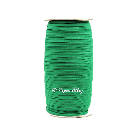 "Emerald Green Skinny Elastic 1/8"" 5 yards"