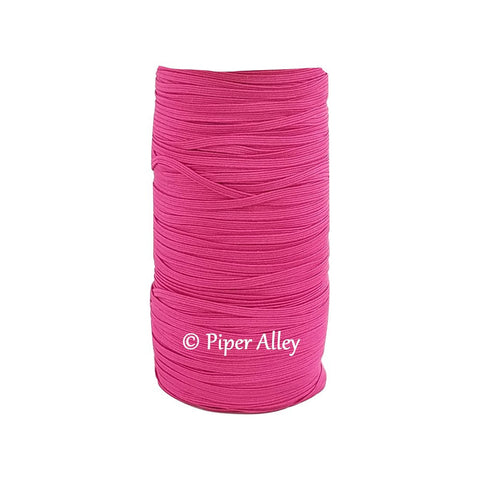 "Raspberry Rose Skinny Elastic 1/8"" 5 yards"