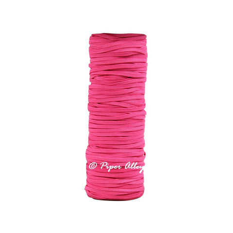 "Shocking Pink Skinny Elastic 1/8"" 5 yards"