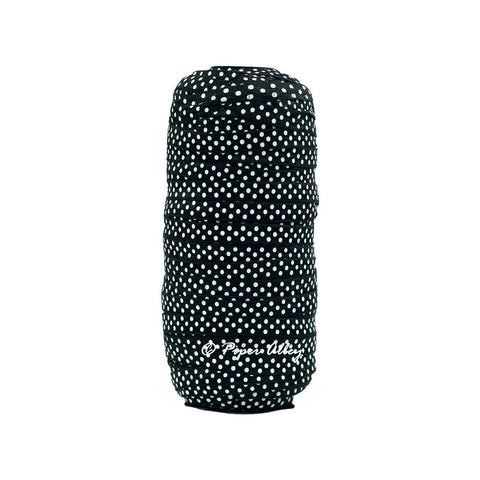 "Black 3/8"" Narrow FOE White Dot 5 yards"