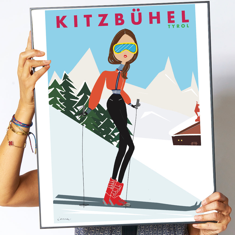 "Travel Poster ""Kitzbühel"""