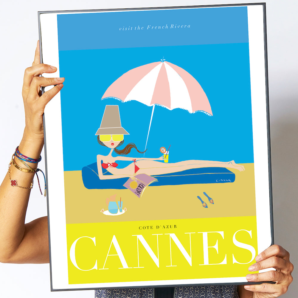 "Travel Poster ""Cannes"""