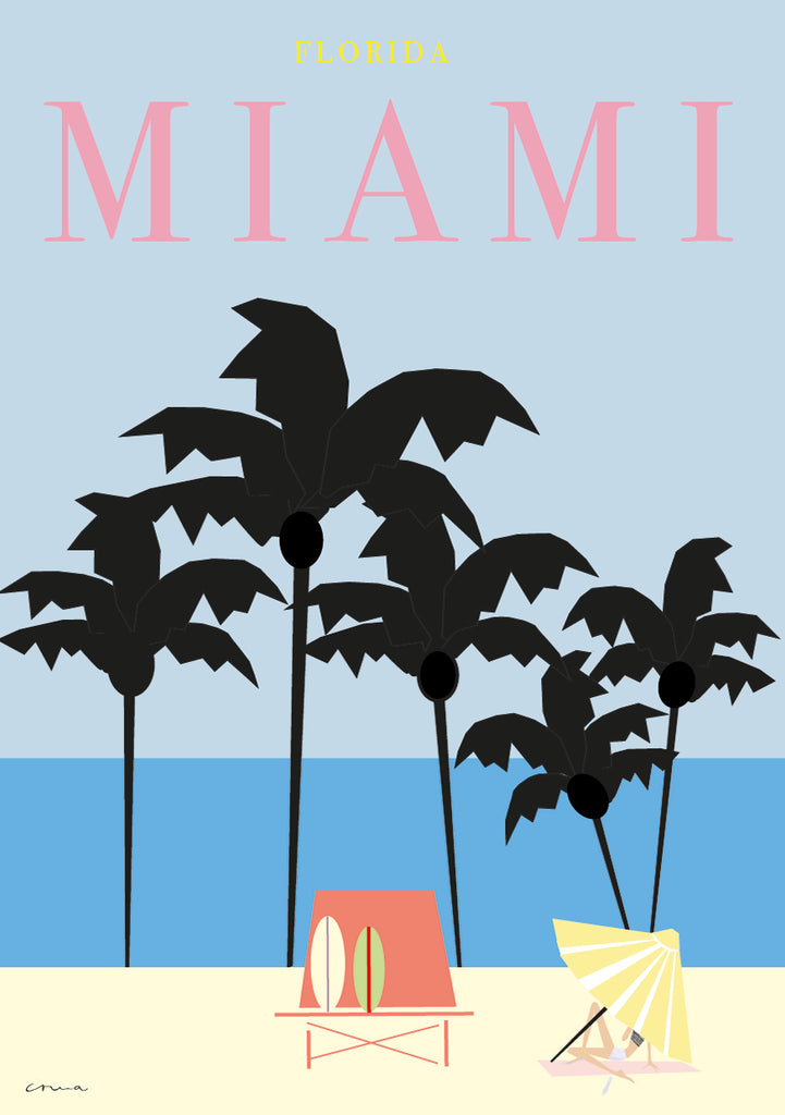 "Travel Poster ""Miami"""