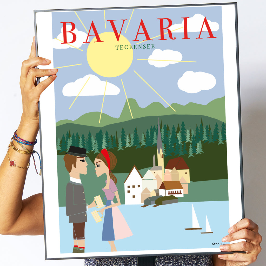 "Travel Poster ""Bavaria"""