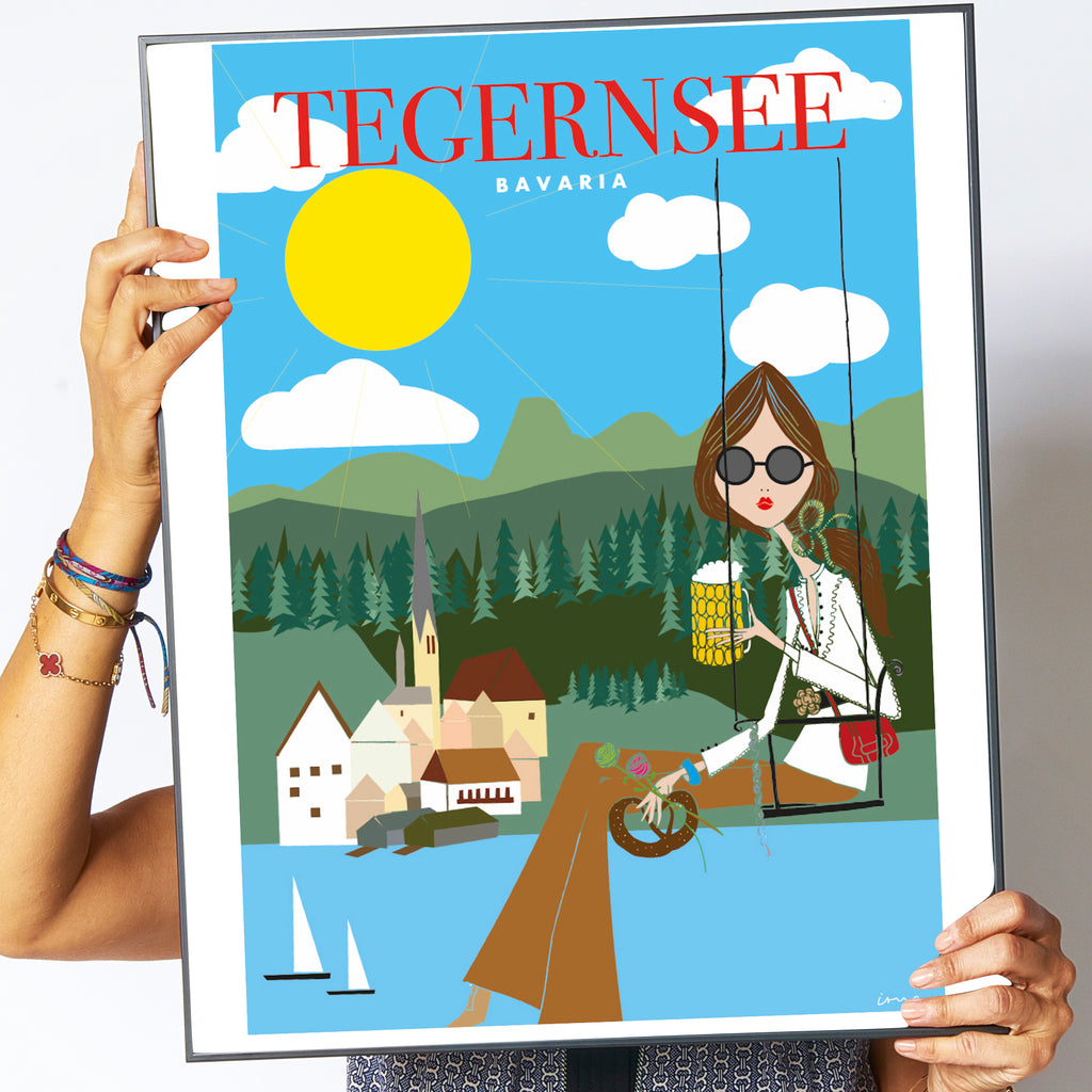 "Travel Poster ""Tegernsee"""