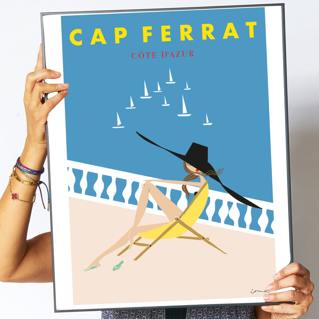 "Travel Poster ""Cap Ferrat"""