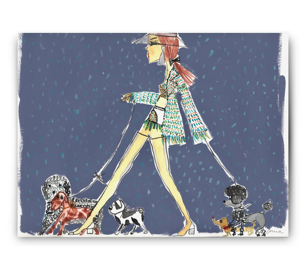 "IRMA art print ""Dog Walk"""