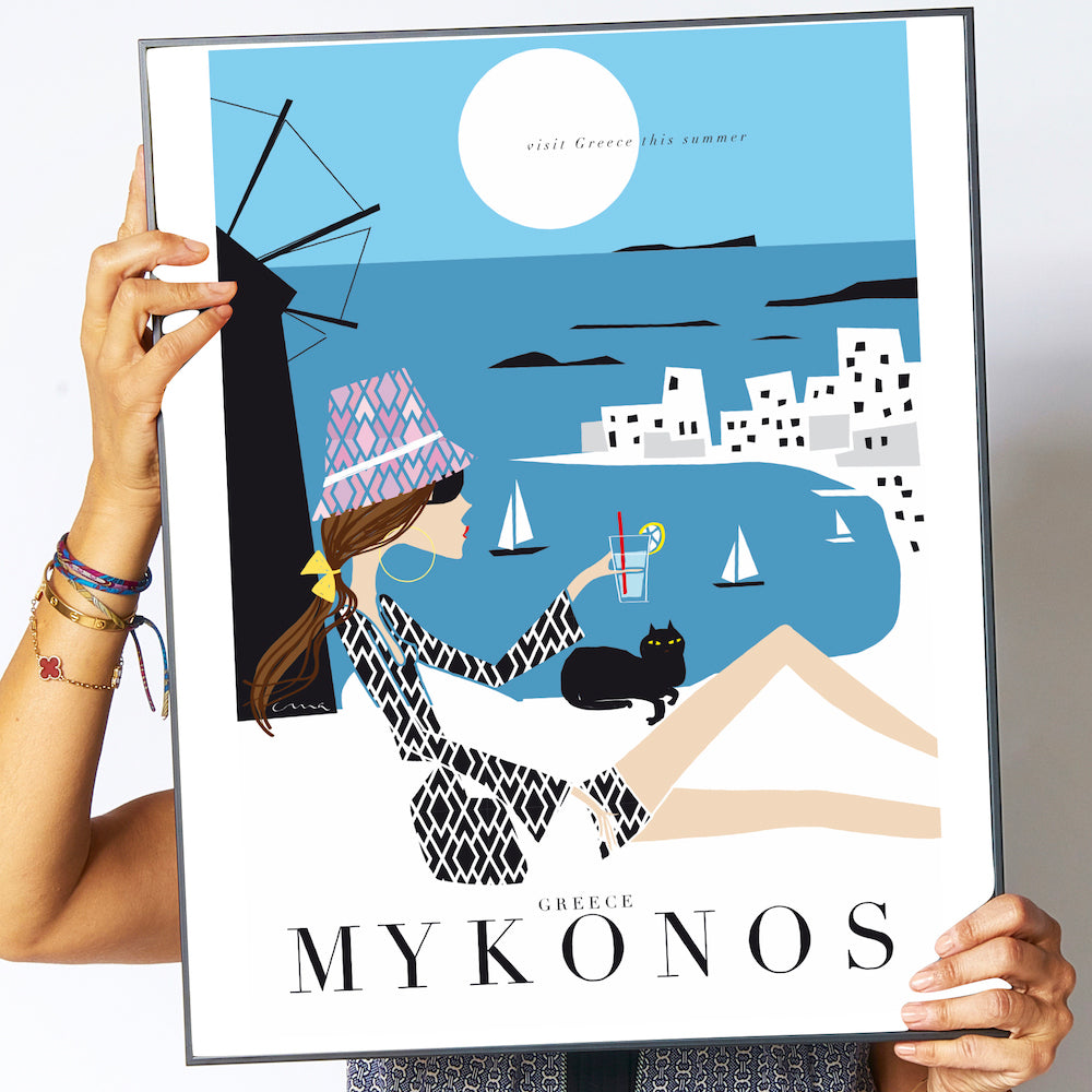 "Travel Poster ""Mykonos"""