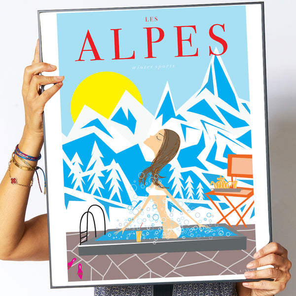 "Travel Poster ""Les Alpes"""