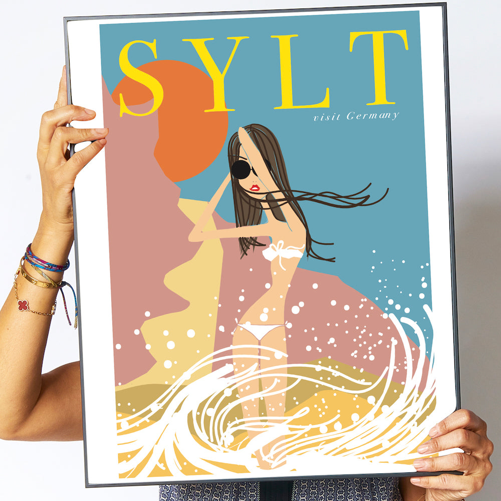 "Travel Poster ""Sylt"""