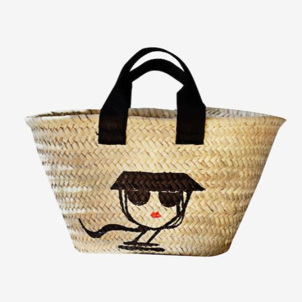 IRMA mini basket 08 / black straps