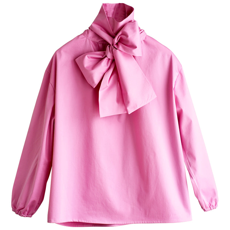 Cala. Bow blouse pale pink