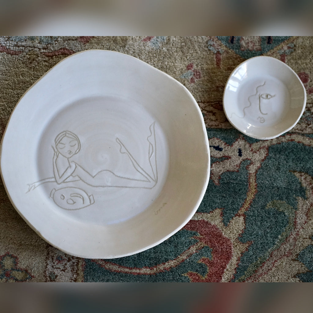Ceramics, IRMA x Beatrice Pedersen, bread-and-butter plate No. 20