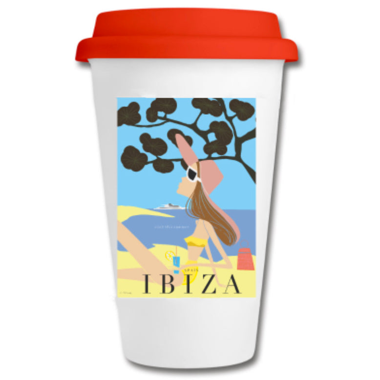 "Ceramic Coffee-to-Go mug. ""Ibiza"""
