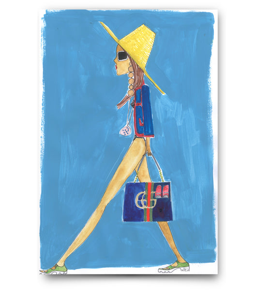 "IRMA art print ""Gucci Girl"""