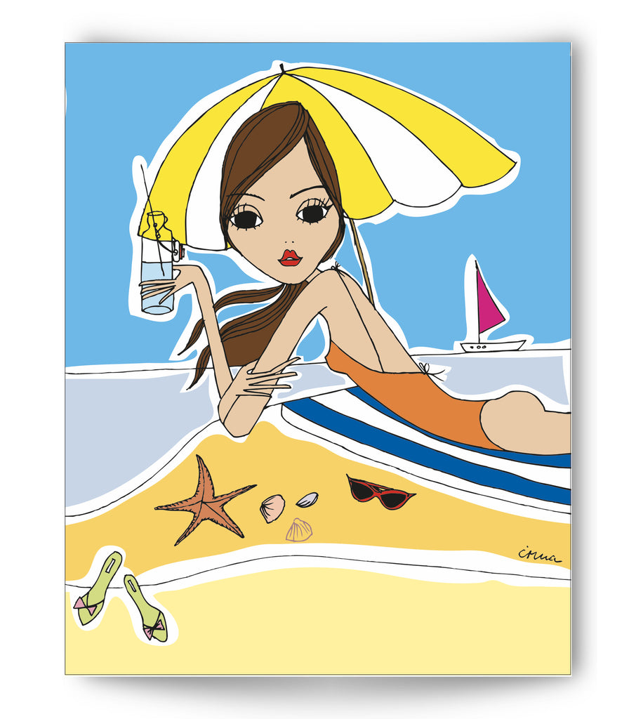 "IRMA art print ""Beach Girl"""