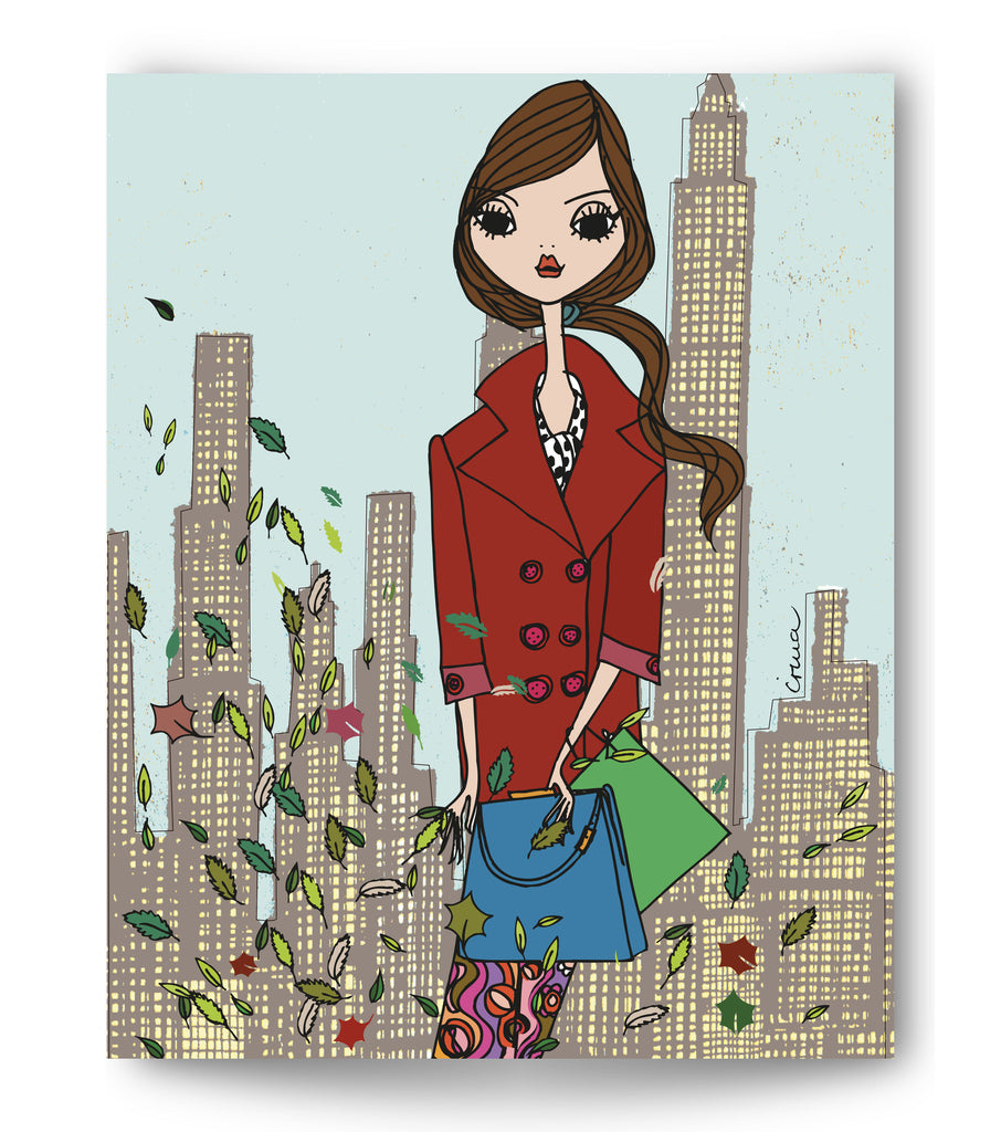 "IRMA art print ""Red coat New York"""