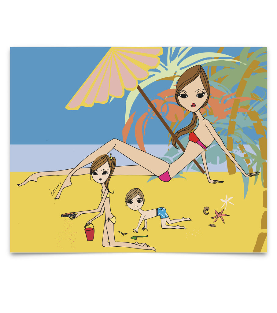 "IRMA art print ""Beach Kids"""